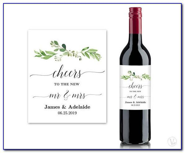 Will You Be My Bridesmaid Wine Label Template Free