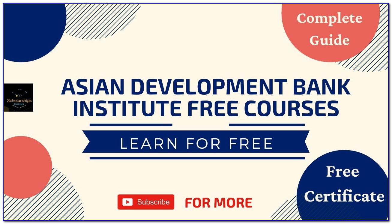 World Bank Free Online Courses With Certificates