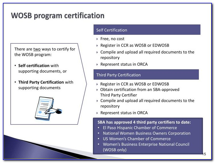Wosb Certification Requirements