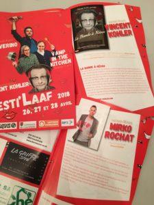 Festi'Laaf - Vincent Kohler - La Bande à Révox - Flyers