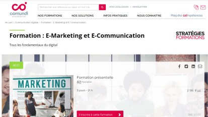 Conseil et formation en marketing digital pour Comundi / Stratégies