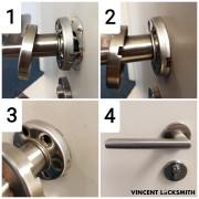 Servicing loose door handles