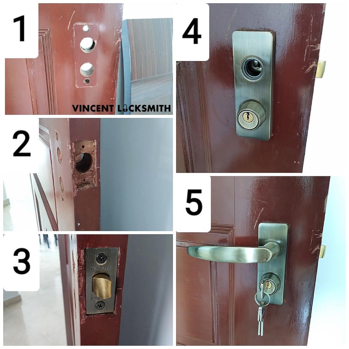 Changing HDB room door lock