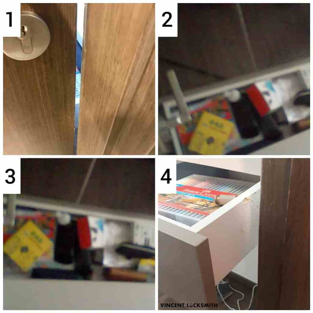 Opening door blocked by open drawer