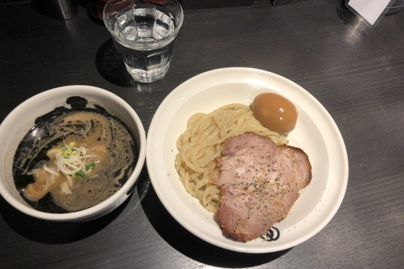 Black broth tsukemen near Ueno Park