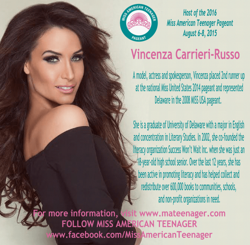 Miss American Teenager Pagaeant Hosted by Vincenza