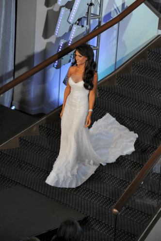Vincenza Carrieri Russo White Gown for Pageant