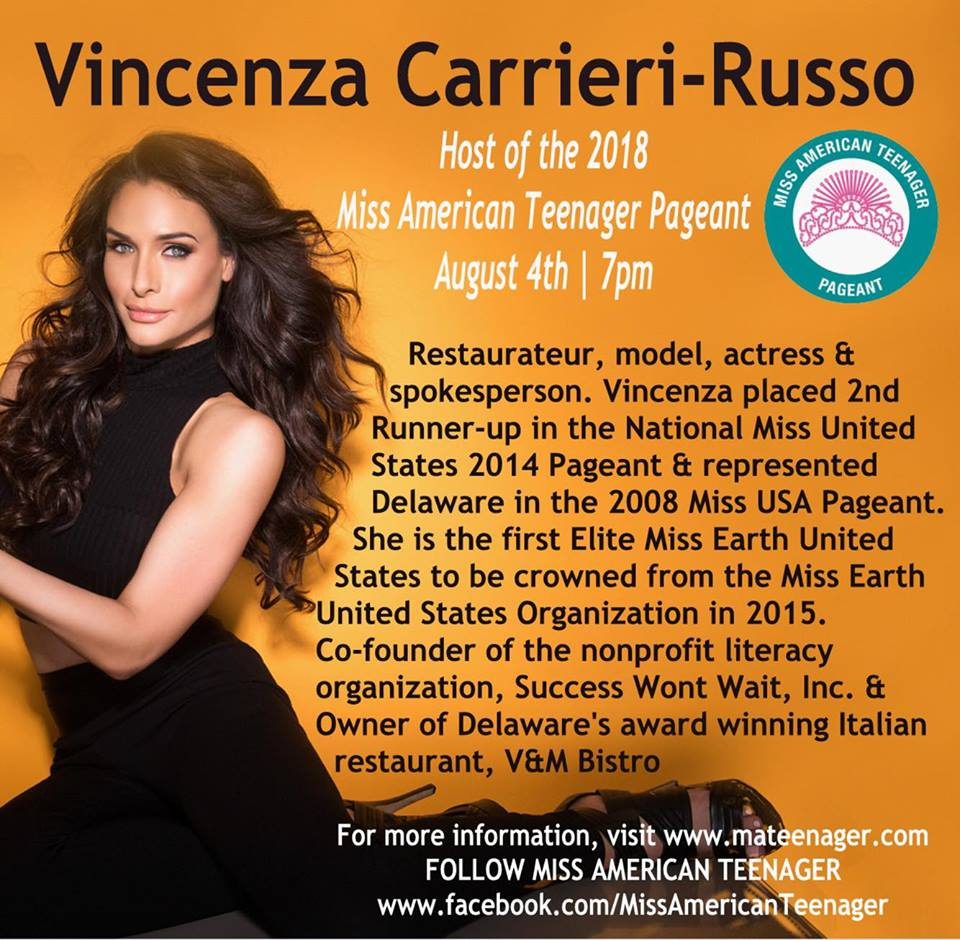 Host of Miss American Teenager Pageant 2018