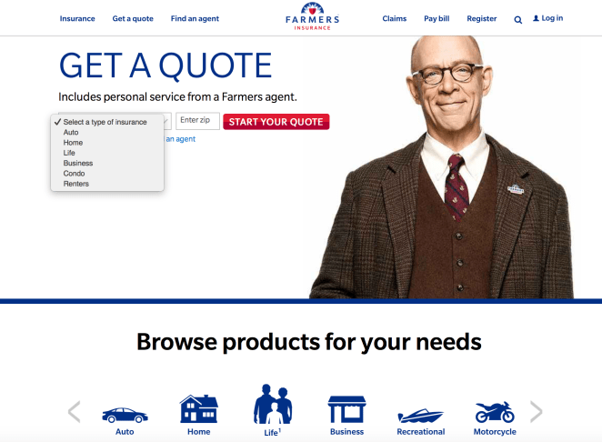 Farmers Insurance Home Page