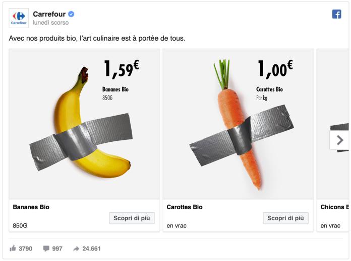 Carrefour - Comedian - Banana Cattelan