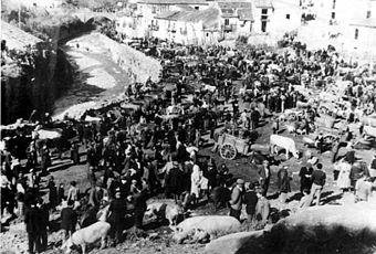 Polistena_il_mercato_del_bestiame_1930-1940
