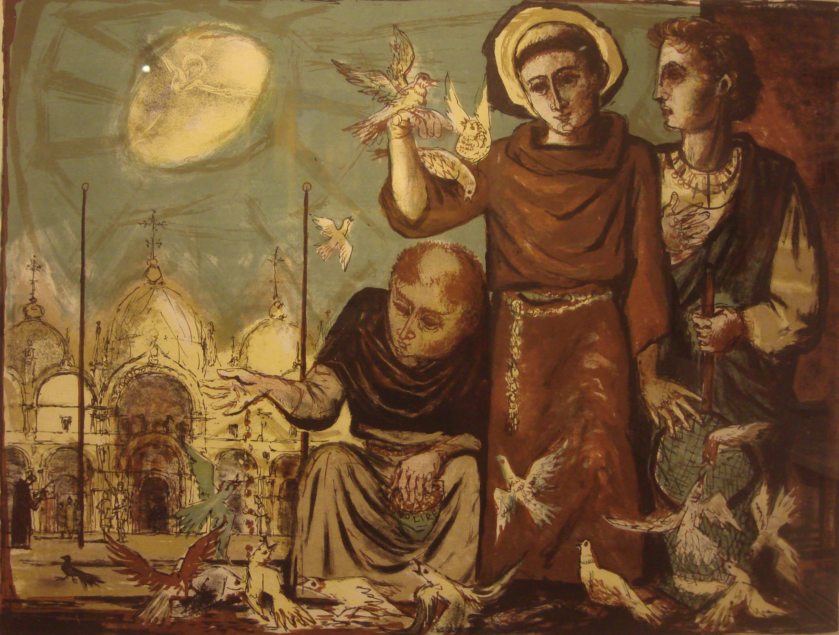 Habemus Papam St Francis Of Assisi Painted C 1500 Vin De Vie