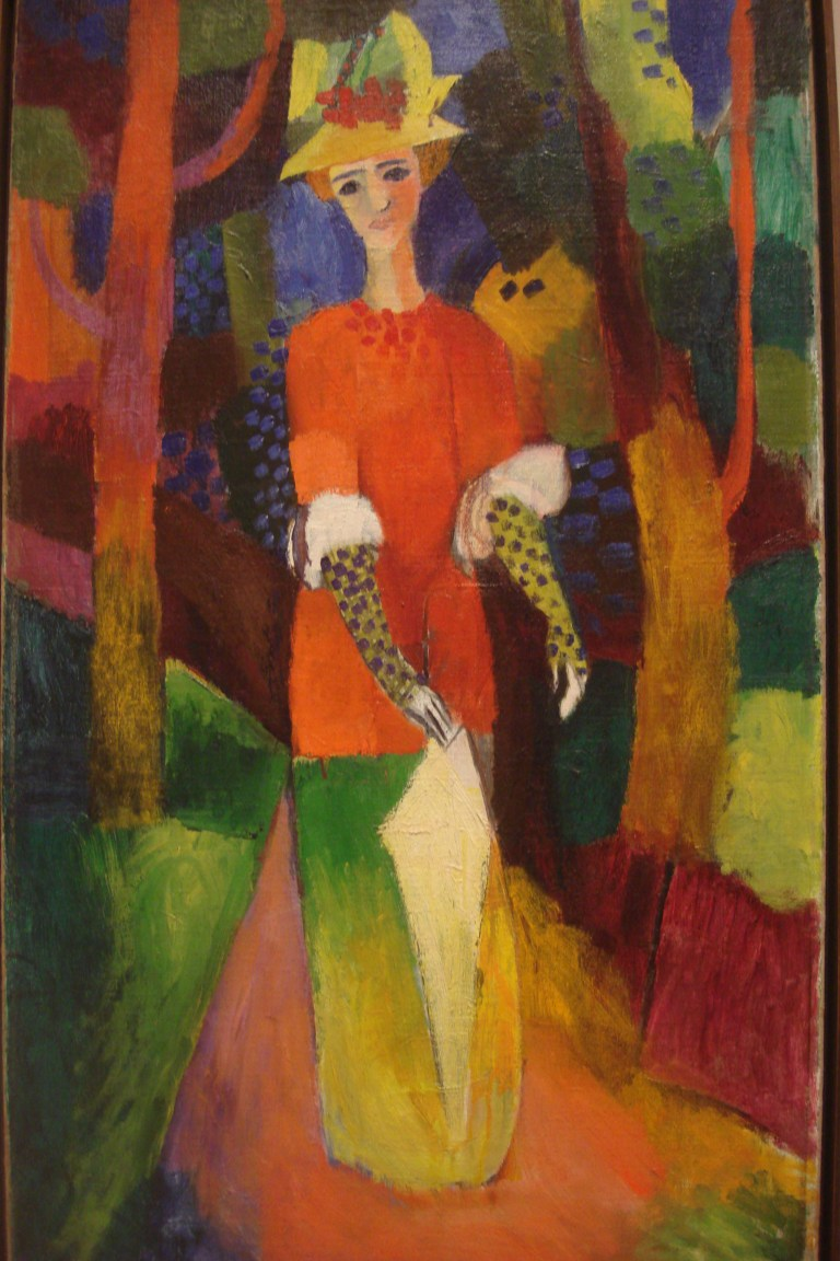 August Macke, Lady in a Park, 1914. MOMA-1