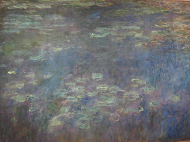 Monet triptych Waterlilies 1920