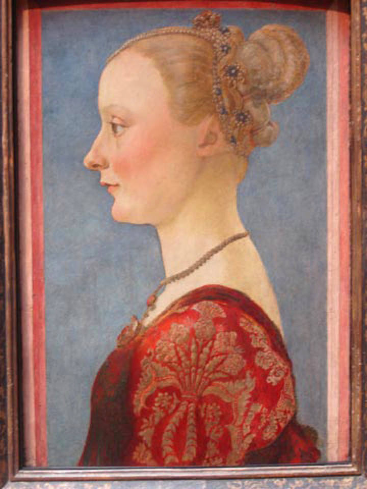 Piero del Pollaiuolo, 1441-1496- Portrait of a Woman