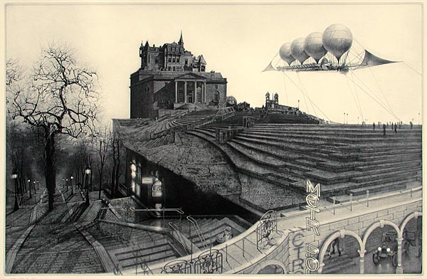 Peter Milton Hidden Cities II - Embarkation for Cytherea