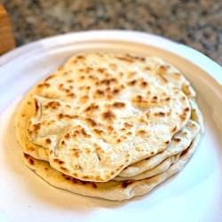 flour tortillas on a plate