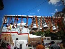 The bells in a temple depicting the piligrimage journey