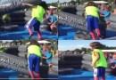 Видео: Пацан, который умеет держать удар.