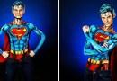 Видео: Благодаря фантастическому макияжу девушка перевоплотилась в Супермена.