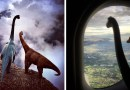 Парагвайский фотограф снимает удивительные фотографии, главными героями которых являются игрушечные динозаврики.