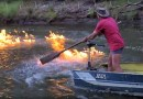 Видео: В Австралии из-за фрекинга горела река.