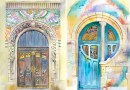 Художница из Украины путешествует по миру и рисует двери акварелью.