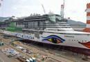 Timelapse-видео: Как строится огромный круизный лайнер.