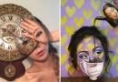 Кореянка рисует оптические иллюзии на собственном лице.