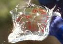 Это слоу-мо видео демонстрирует нам, как взрывается стекло при резком изменении температуры.