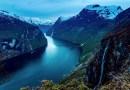 Потрясающее 4K-видео норвежских фьордов.