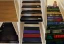 Женщина оформила ступеньки в своем доме в виде стопки ее любимых книг.