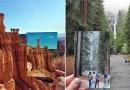 Фотограф колесит по США и снимает те места, в которых когда-то бывали его дедушка и бабушка.
