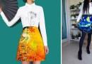 Теперь картины известных художников можно носить в виде юбок и платьев.