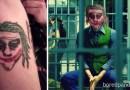 Ужасные по качеству исполнения татуировки лиц: что получится, если наложить их на реальных моделей, с которых они и рисовались.