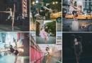 Шикарные портреты артистов балета, выполняющих разные движения на улицах Нью-Йорка.
