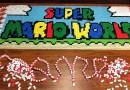 Более 81 тысячи падающих доминошек было использовано для воссоздания удивительного мира популярной игры Супер Марио.