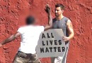 Американский видеоблогер проверил реакцию белокожих и чернокожих людей на плакат «All Lives Matter».