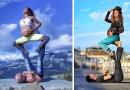 Эта женщина занимается экстремальной йогой будучи на девятом месяце беременности.