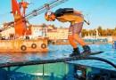 Видео: Умопомрачительный вейкбординг с помощью портового крана и буксировочного троса.