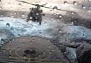 Видео: Посадка вертолета на корабль во время шторма в Северной Атлантике.
