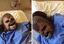 Американка рожала ребенка в маске Чубакки. [Видео]