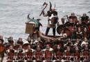 Эпические фотографии с фестиваля викингов в Шотландии.