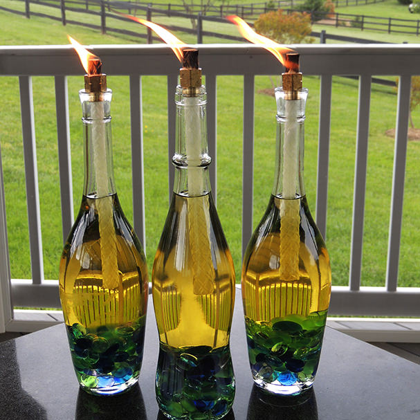 These are wine lamps