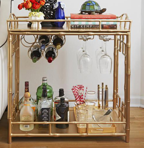 Side Table Liquor Cabinet