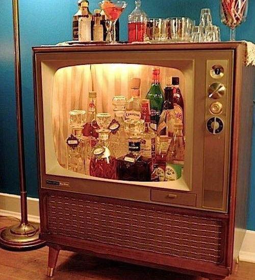 Television Liquor Cabinet