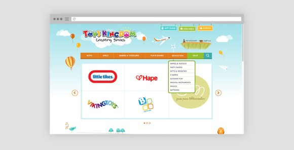 Toys Kingdom - Website