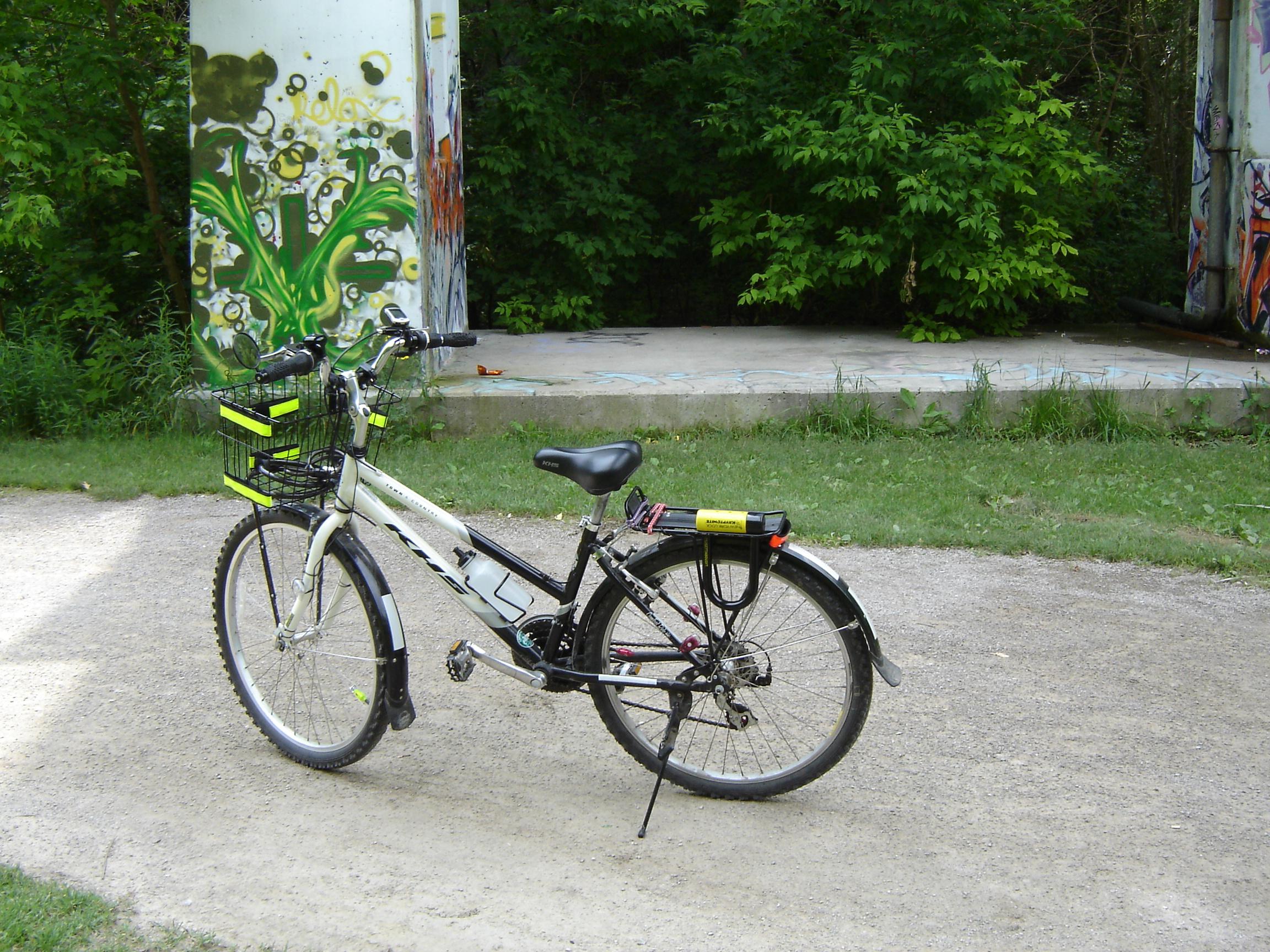 My bike near Glen Cedar Road bridge