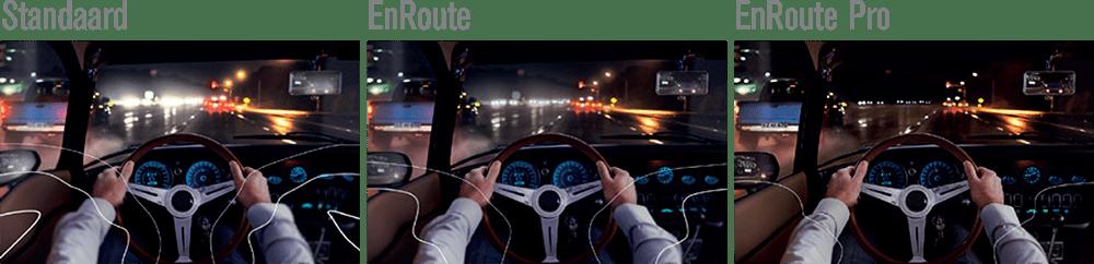 Hoya EnRoute brillenglazen verschil in zicht 's nachts