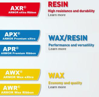 phân loại axr 7 armor resin ribbon
